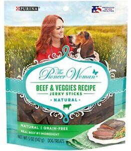 Purina The Pioneer Woman Beef & Veggies Recipe Jerky Sticks 5 oz Bag