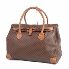 Auth CELINE Vintage Macadam Kelly Travel Bag Boston Bag Brown