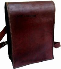 Men A1 Quality  Genuine Vintage Leather Messenger Laptop Briefcase Satchel Bag