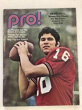 1971 DENVER BRONCOS FOOTBALL PROGRAM VS KANSAS CITY CHIEFS