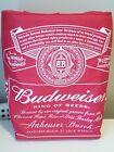Breweriana Budweiser Cooler Bag Backpack Red EUC
