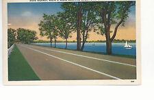 State Highway Route 5 along Seneca lake  Geneva  NY    Mailed 1944  Postcard 784