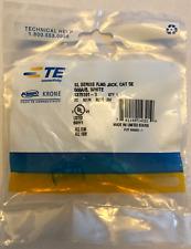 TE Connectivity AMP 1375191-3 Cat 5e Jack, White