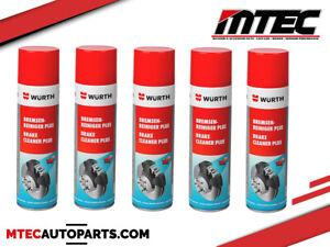 5x PULITORE FRENI Wurth 500 ML Spray Rapida Evaporizzazione // 0890117 // 2021