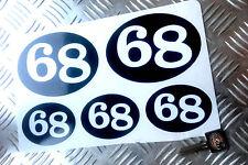 CAFE RACER 68 Rétro Autocollants, Scooter, RACER, Rocker decals