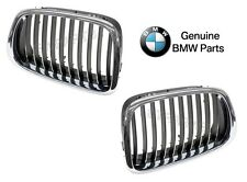 BMW E38 E39 540i M5 Set of 2 Grilles Front Left and Front Right Genuine