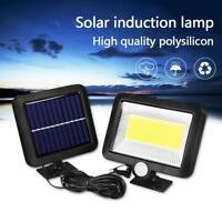 100LED Solar Light PIR Motion COB Sensor Wall Outdoor Waterproof Garden Lamp