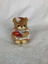 Rare Lucy & Me Bear With 1986 Heart Scissors Lucy Rigg Enesco 1985 Valentines