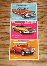 1973 Ford Explorer F-100 F-250 Ranchero Bronco Sales Brochure 73 Pickup Truck