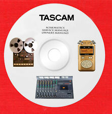 Tascam Audio Repair Service owner manuals on 1 dvd in pdf format