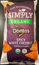 NEW SIMPLY ORGANIC DORITOS SPICY WHITE CHEDDAR FLAVORED CHIPS 7 1/2 OZ BAG BUYIT