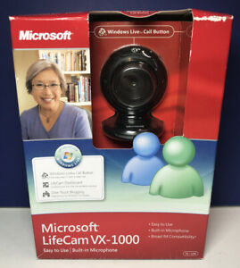 NEW in BOX Microsoft Lifecam VX-1000 Easy to Use Built in Microphone PC/USB
