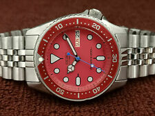 SEIKO DIVER 7S26-0030 SKX013 STUNNING RED MOD AUTOMATIC MEN'S WATCH SN 145281