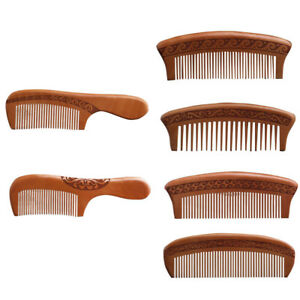 Hot Sale Natural wide tooth Peach wood Comb no-static massage hair wood comb