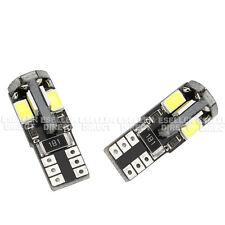 2x Peugeot 208 Bright Xenon White 8 SMD LED Canbus Number Plate Light Bulbs