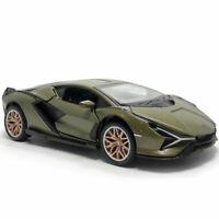 1:32 2019 Lamborghini Sian FKP 37 Model Car Diecast Toy Sound & Light Green Gift