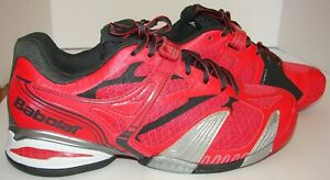 Woman's Babolat Propulse Michelin Kompressor Red Tennis Shoes Sz 8.5 NEW