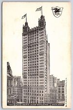 The Park Row Building in New York City, New York Undivided Back Postcard Unused
