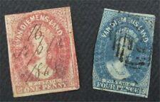 nystamps British Australian States Tasmania Stamp # 11.13 Used $63  O22x1820