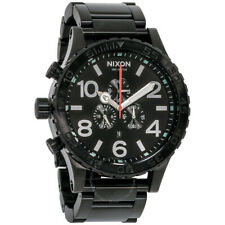 Nixon Men's 51-30 Chronograph Black Stainless Steel 51mm Watch