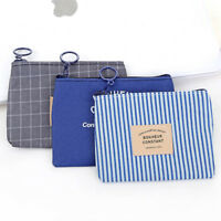 1Pc anvas Pouch Bags Wallet Unisex Card Key Diy Purse Small Zipper Coin Holder