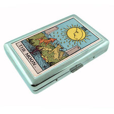Tarot Card D20 Silver Metal Cigarette Case RFID Protection Wallet XVIII The Moon
