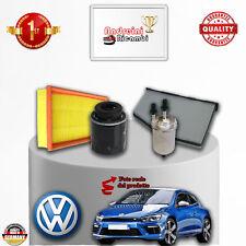KIT TAGLIANDO 4 FILTRI VW SCIROCCO III 1.4 TSI 118KW 160CV DAL 2008 ->