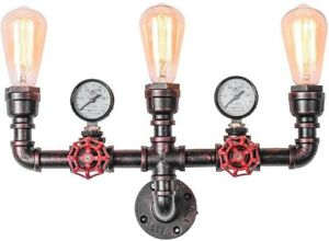 OYIPRO Antique Wall Light Industrial Wall Sconces Water Pipe Wall Lighting E27