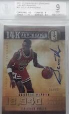 11/12 Panini Gold Standard 14Karat Signatures SCOTTIE PIPPEN.graded 9+.BULLS NBA