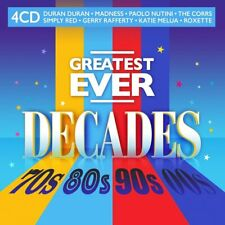More details for greatest ever decades 70s, 80s, 90s, 00s 4 cd set - 80 hits (released 17/9/2021)