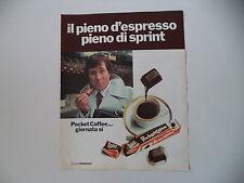 advertising Pubblicità 1974 FERRERO POCKET COFFEE