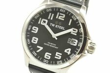 TW Steel TW408 Pilot Black Dial Black Leather Watch