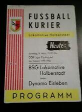Programm Lok Halberstadt Dynamo Eisleben 1980 DDR Liga Halle Magdeburg Germania