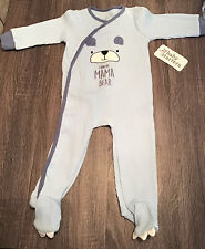 I Love My Mama Bear - By Baby Starter Footie Pajamas Snap Closure- 9 Months Nwt
