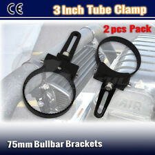 2x 3INCH OType 76MM Nudge Bar Mounting Bracket Spot LED Light Bar Bull Bar Clamp