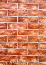 "14"" Sample Red Brick Wallpaper  FREE SHIPPING!"