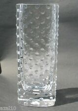 Kristall Glas Noppen Vase Mundgeblasen