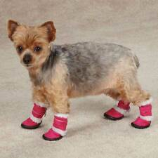 East Side Collection Sherpa Faux Suede Dog Boots RASPBERRY CHOCOLAT ULTRA VIOLET