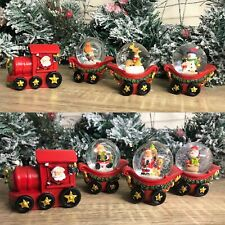Christmas Santa Train with Trio of Snow Globe Carriages