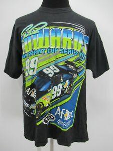 P5381 VTG Carl Edwards 99 Men's Aflac NASCAR Racer T-Shirt Size XL