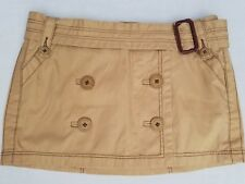 Abercrombie & Fitch Mini Skirt Size 4 Tan Buttoned Lined Belted Wrap-Around (#2)