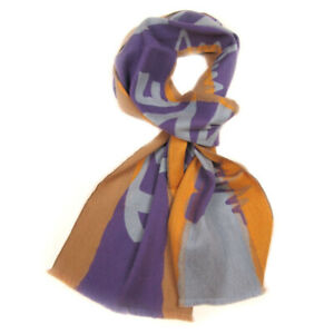 "Men warm winter wool silk purple scarf 75""x10"" VIVIENNE WESTWOOD 0201"