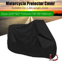 L Heavy Duty Motorcycle Cover Motorbike Waterproof Anti-UV Dust Rain Protector