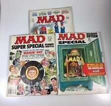 Mad Magazine 3 issues-Special 15, 26 + #206 Humor Magazines