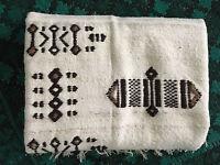 Vintage Mid Century Modern/  Native American African Wool Blanket - Throw