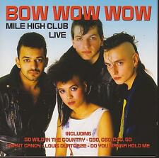 bow wow wow Mile High Club Live PEG CD 688 Made In Germany