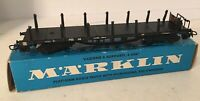 Vintage Marklin HO Scale 4516 Flat Car With Stakes Original Box From Estate Sale
