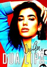 Dua Lipa poster - #3 - Retro Look Effect - Signed (copy) - A4 (297mm x 210mm)