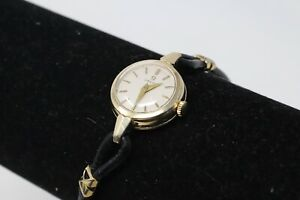 A Great Vintage Ladies Omega Gold Plated Manual Wind Running Wristwatch #32495