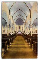 Early 1900s Interior of St. Mary's Catholic Church, Soo, MI Postcard *6L(2)6